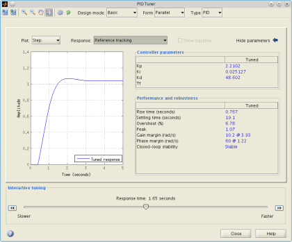 matlab pidtool with delay2